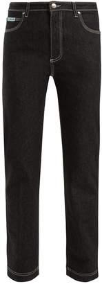 ALEXACHUNG Contrast-stitch straight-leg jeans