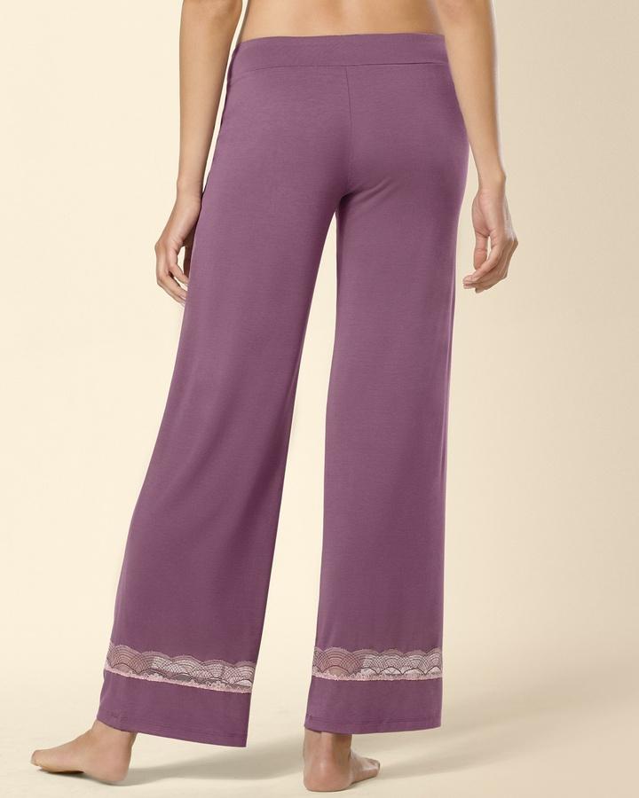 Soma Intimates Embraceable Deco Lace Sleep Pant Amethyst