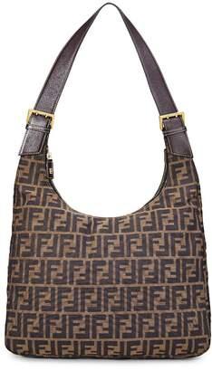 Fendi Brown Zucca Hobo Bag