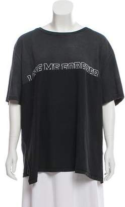 Saint Laurent Love Me Forever Distressed T-Shirt