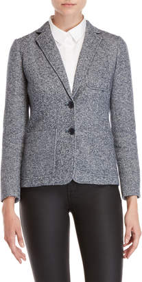 Tommy Hilfiger Blue Heather Two-Button Blazer