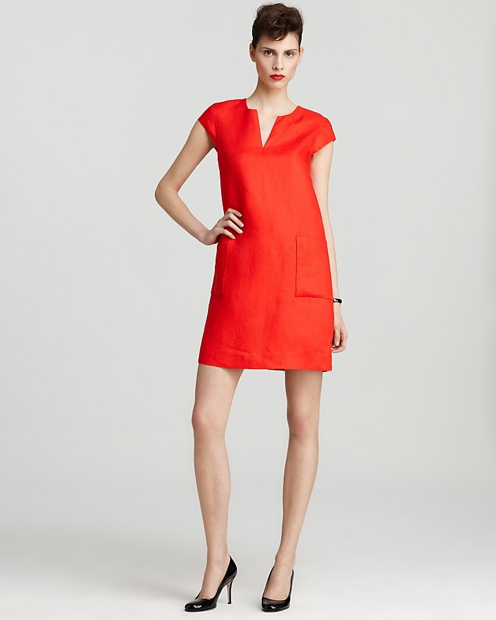 kate spade new york Teri Linen Shift Dress
