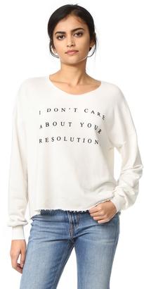 Wildfox No Resolution Sweatshirt $108 thestylecure.com