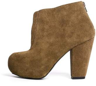 Kelsi Dagger Mcclaine Olive Booties $100 thestylecure.com