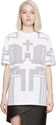 Givenchy Black & White Cross T-Shirt $775 thestylecure.com