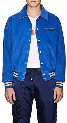 Filling Pieces Men's Appliquéd Cotton Corduroy Varsity Jacket