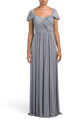 Convertible Cap Sleeve Jersey Gown