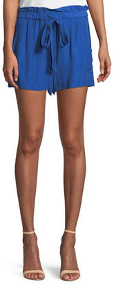 Milly Kori Gathered Viscose/Silk Shorts