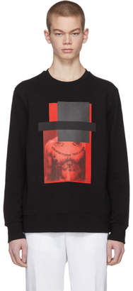 Neil Barrett Black and Red Do Wrong To None, Trust A Few Sweatshirt