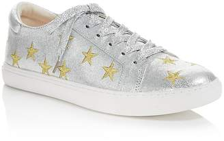 Kenneth Cole Kam Star Metallic Leather Lace Up Sneakers - 100% Exclusive $140 thestylecure.com