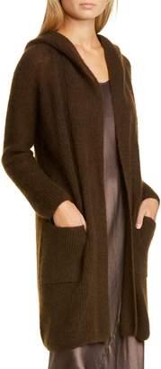 Max Mara Fronda Hooded Open Front Cardigan