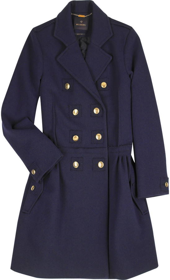 Mulberry Wool military coat