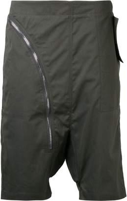 Rick Owens drop crotch zip shorts