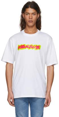 Versus White Fluo Logo T-Shirt