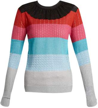 Marco De Vincenzo Striped lurex-knit sweater