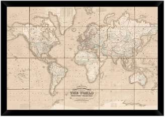 Pottery Barn Chart of the World - Oversize
