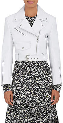 Calvin Klein Women's Leather Moto Jacket - White