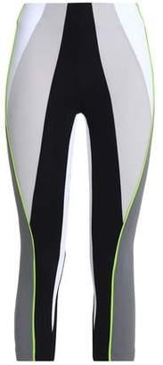 NO KA 'OI Cropped Color-Block Stretch Leggings