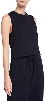 Vince Cropped Cotton Shell Tank