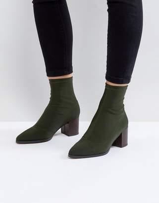 Asos RICKY Mid Heeled Sock Boots