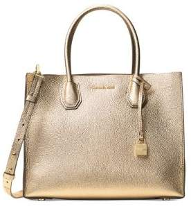 MICHAEL Michael Kors Mercer Pebbled Leather Large Convertible Tote