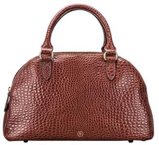 At Harvey Nichols Croco Maxwell Scott Bags Sleek Faux Croc Tan Leather Las Bowling Bag
