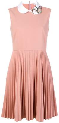 RED Valentino flared pleated dress