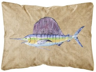 Sword Fish Caroline's Treasures Swordfish Canvas Fabric Decorative Pillow