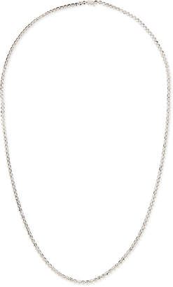 Eddie Borgo Silver Pyramid Link Necklace, 32