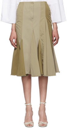 Lanvin Beige Pleated Skirt