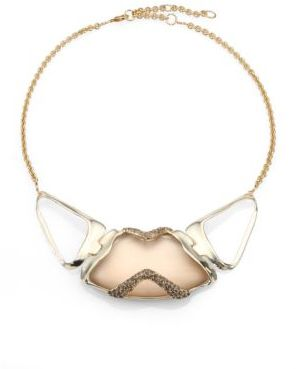 Alexis Bittar Lucite & Crystal Encased Necklace