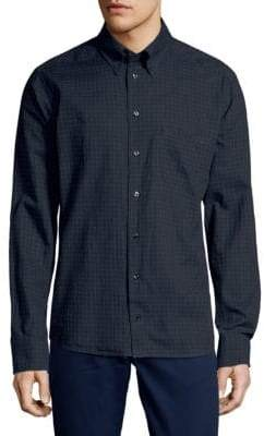 Eton Check Long Sleeve Casual Button-Down Shirt