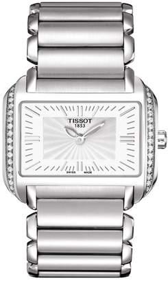 Tissot Women's T-Wave Quartz Swiss Stainless Steel Watch, 20mm