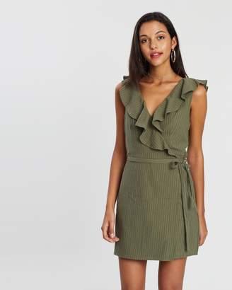 MinkPink Rae Neck Ruffle Mini Dress