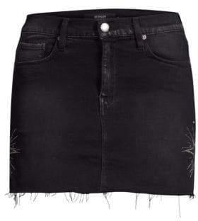 Hudson Jeans Jeans Women's Frayed Denim Mini Skirt - Interstellar - Size 27 (4)