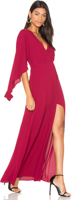 BCBGMAXAZRIA Open Sleeve Gown $298 thestylecure.com