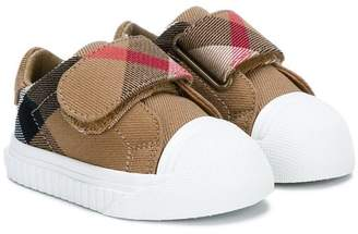 Burberry House Check touch-strap trainers
