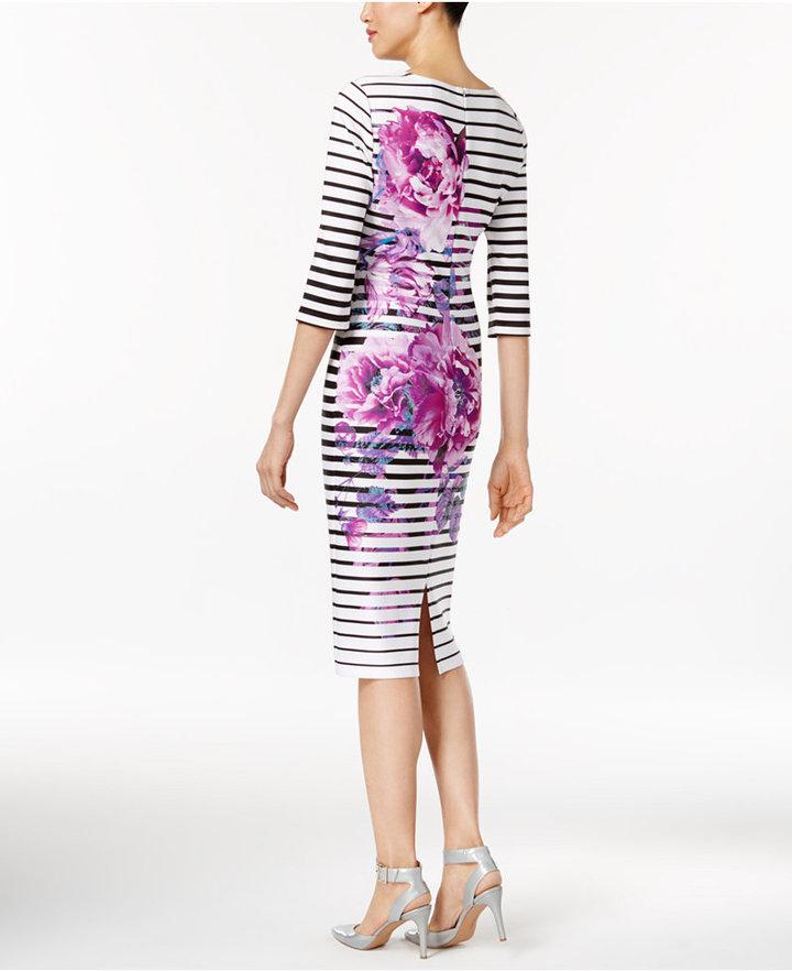 ECI Printed Sheath Dress 3