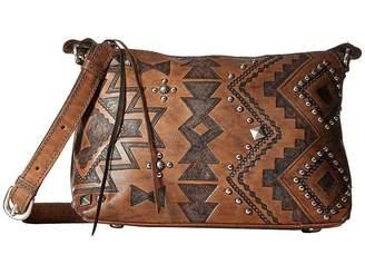 American West Nomad Heart Zip Top Crossbody