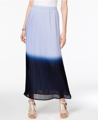 Cupio by Cable & Gauge Pleated Ombré Maxi Skirt $60 thestylecure.com