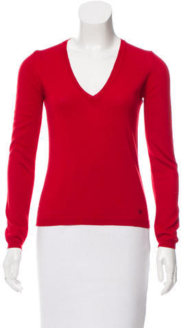 Burberry  Burberry V-Neck Wool Sweater