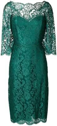Rhea Costa floral lace pattern midi dress