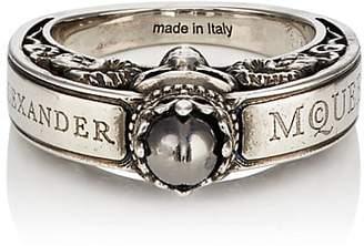 Alexander McQueen Men's Engraved Skull Ring - Silver