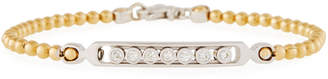 Neiman Marcus Diamonds 14k Two-Tone Bead & Diamond Bezels Bracelet