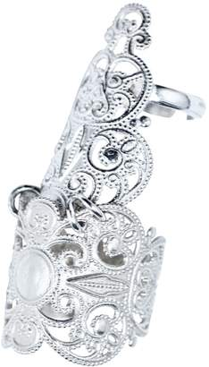 Lucy Ashton Jewellery - Silver Adjustable Half Finger Armour Ring