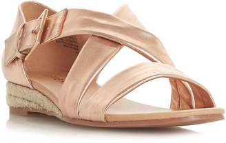 Head Over Heels Kylaa Cross Strap Mini Wedge Sandals