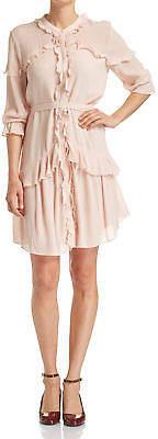 SABA NEW WOMENS Irena Ruffle Dress Dresses