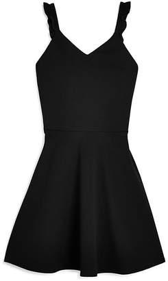 Aqua Girls' Textured Ruffle-Strap Dress, Big Kid - 100% Exclusive