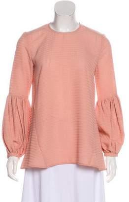 Rebecca Vallance Textured Bell Sleeve Blouse