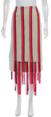 Gabriela Hearst Fringe-Accented Knee-Length Skirt w/ Tags